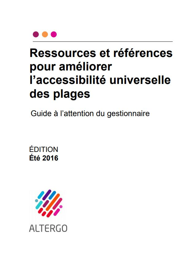 Couverture du guide à l'attention du gestionnaire d'une plage!