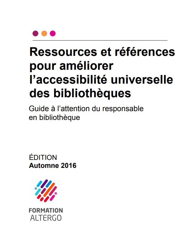 Couverture du guide à l'attention du responsable en bibliothèque.