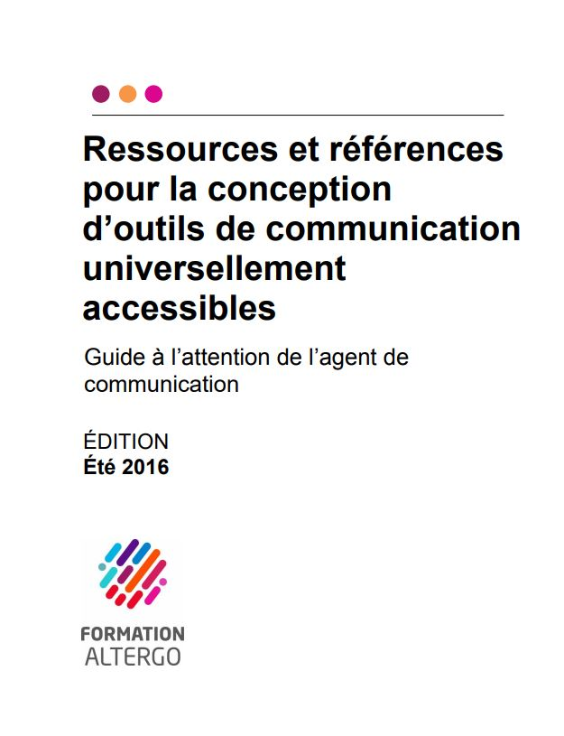 Couverture du guide à l'attention de l'agent de communication.