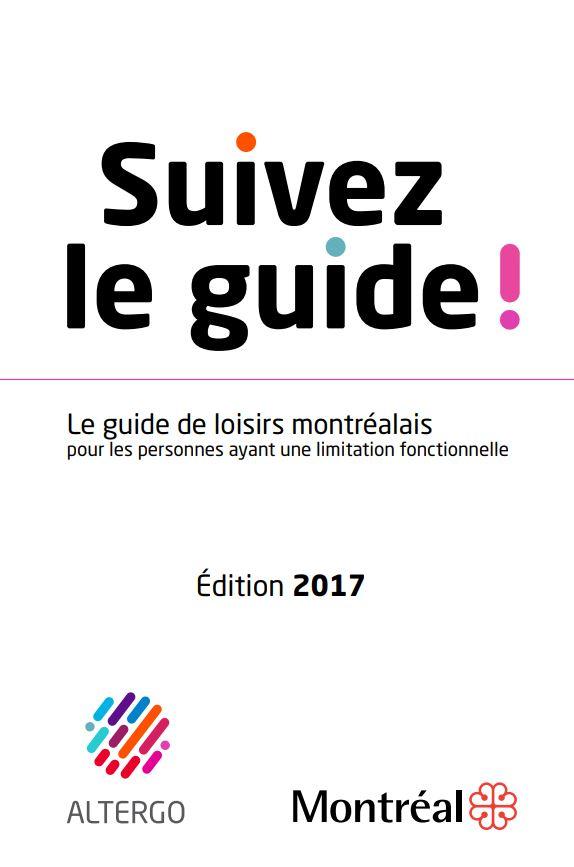 Couverture du guide de loisirs montréalais pour les personnes ayant une limitation fonctionnelle.